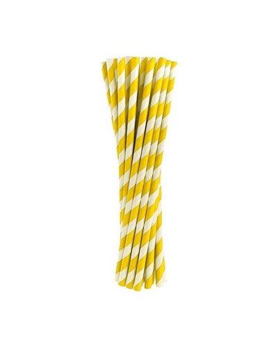 Magicoo Rietjes geel gestreept