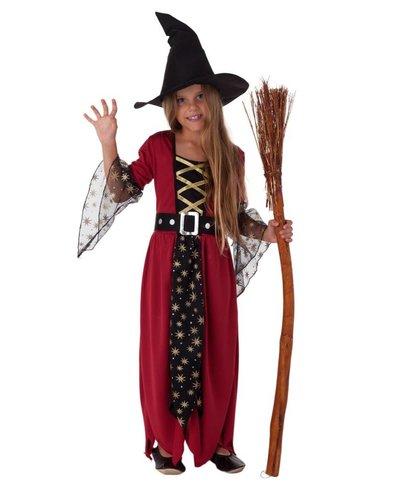 Magicoo Rode heksenjurk meisjes