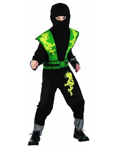 Magicoo Groen Ninja Dragon pak voor kinderen