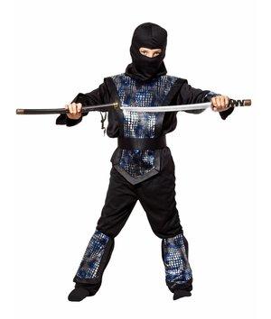 Magicoo Zilveren Ninja pak kind