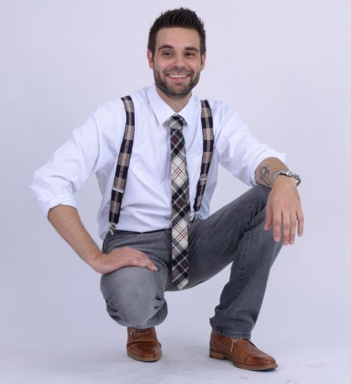 Plaid Wool Tie White