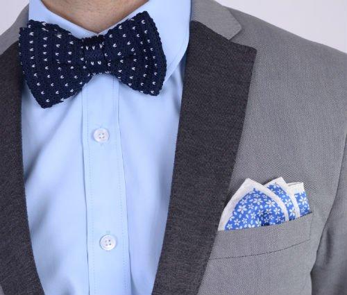 Gebreide Bow Tie Blauw