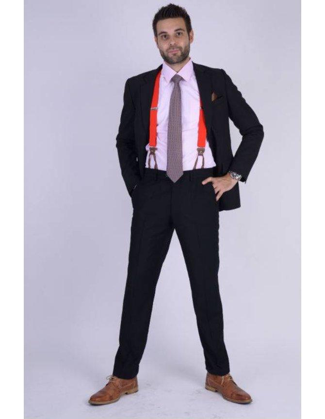 Silk Tie Dark red checkered kopen