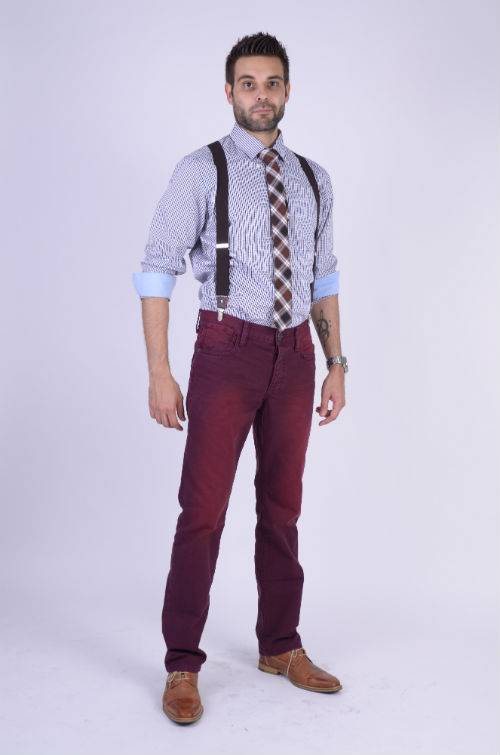 Checkered Tie Brown