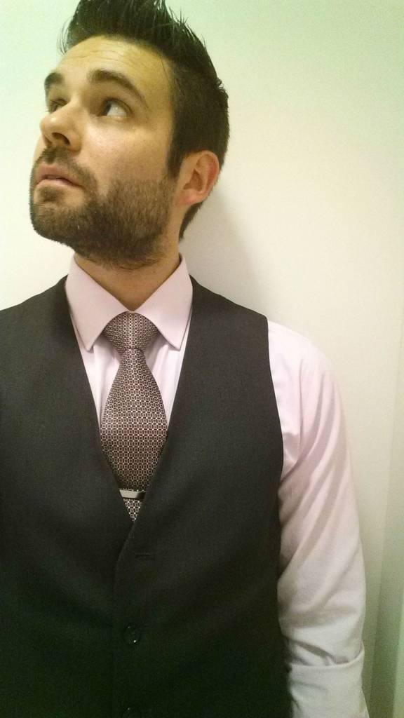 Silk Tie Dark red checkered