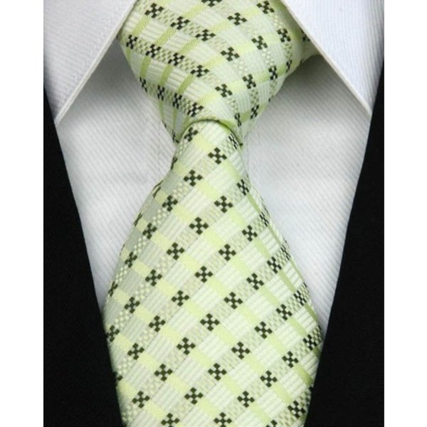 Tie Green checked