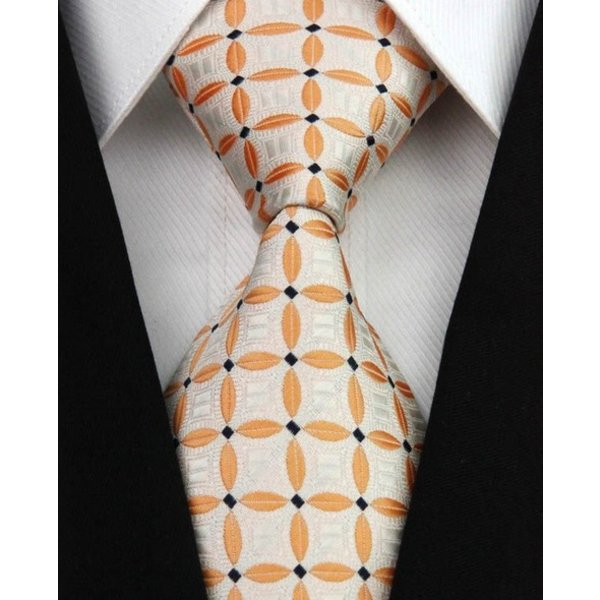 Necktie orange floral