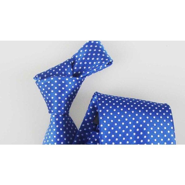 Polkadot light blue Tie in het