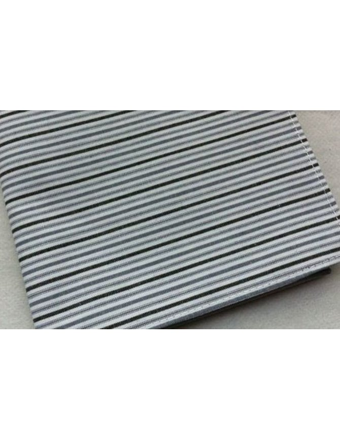 Hanky black grey striped kopen