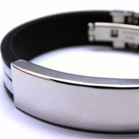 Armband rubber stainless steel