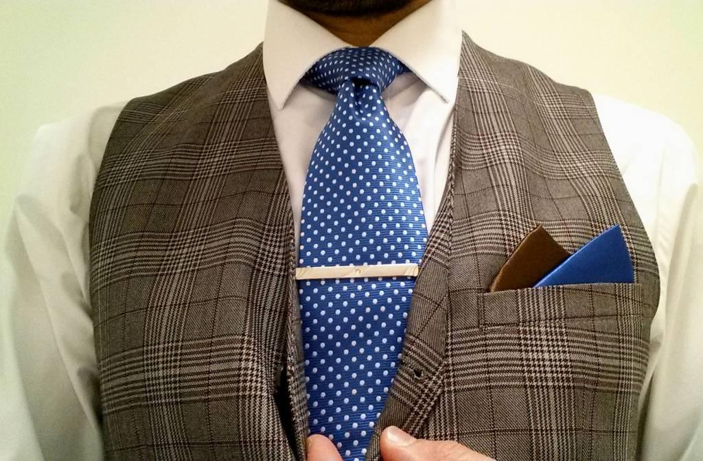 Polkadot light blue Tie
