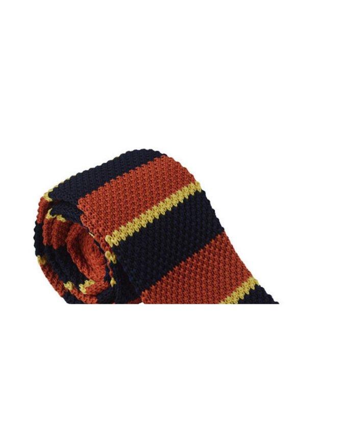 Orange knitted tie kopen
