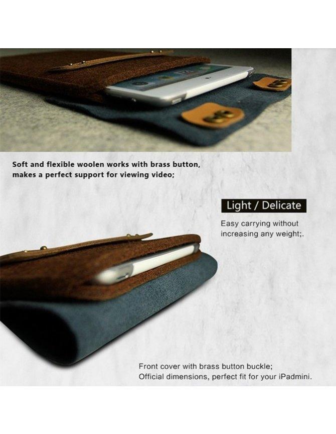 Wool Felt Sleeve iPad Mini case (8 inch Tablet) kopen