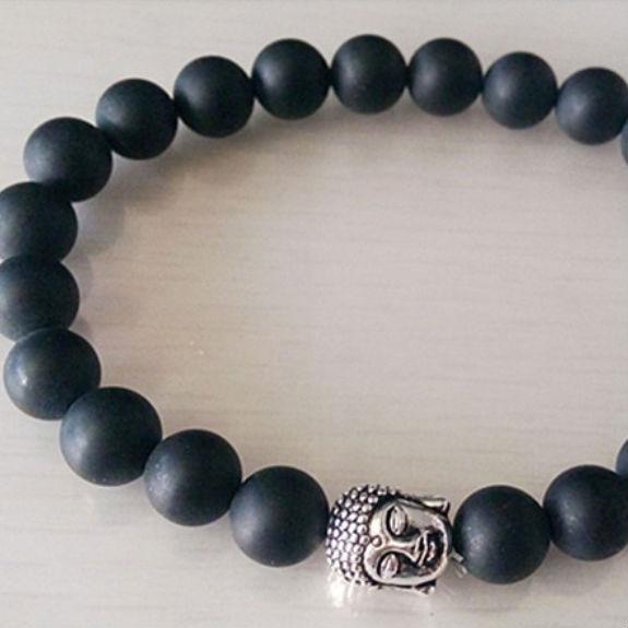 Armband Onyx Buddha Zwart