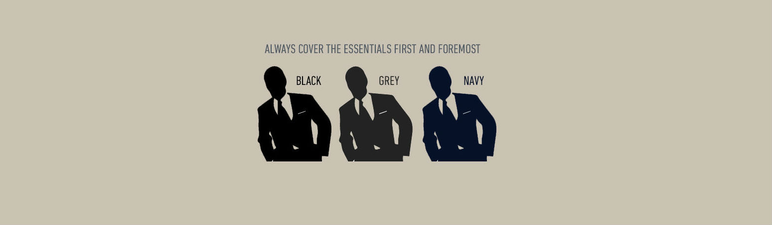 Pak kleuren, navy grijs en zwart