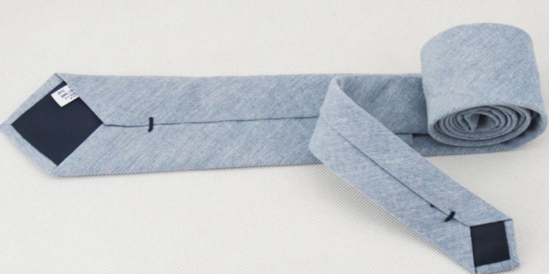 katoenen blauwe stropdas