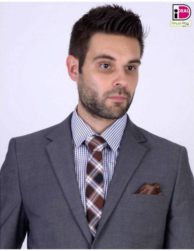 Checkered Tie Brown kopen