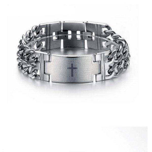 Stainless Steel Cross Bracelet in het