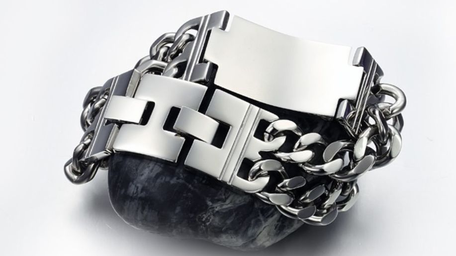 Stainless Steel Chain Link Cross Bracelet