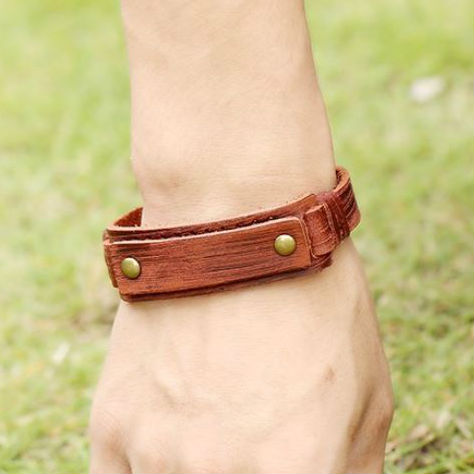 Leren wristband voor mannen