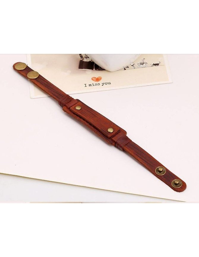 Stoere Leren Wristband voor mannen kopen