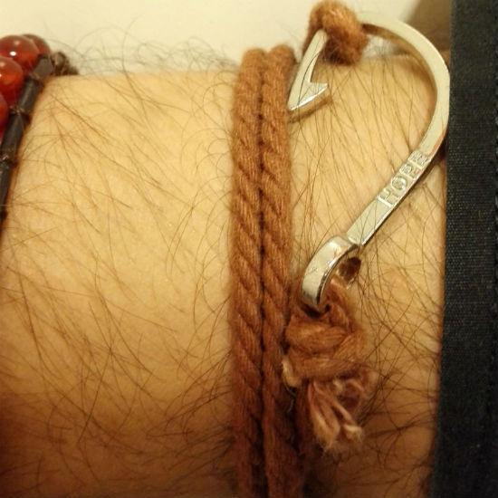 Nautische armband bruin