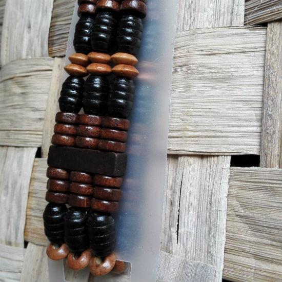 Brede houten kralen armband kopen