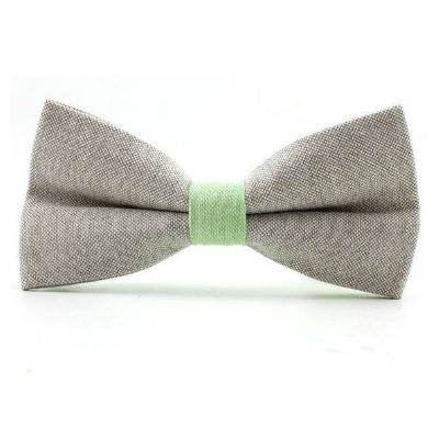 Vlinderdas kopen pastel grijs groen