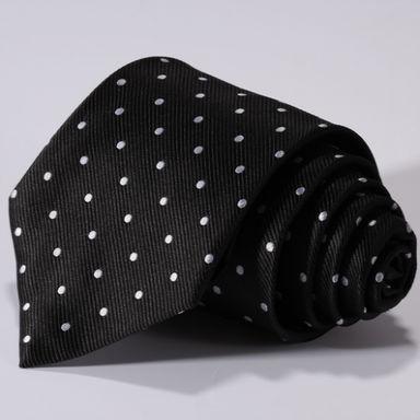 stropdas polka dot zwart