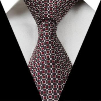 rood met coffee stropdas