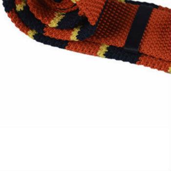 Oranje gebreide stropdas kopen