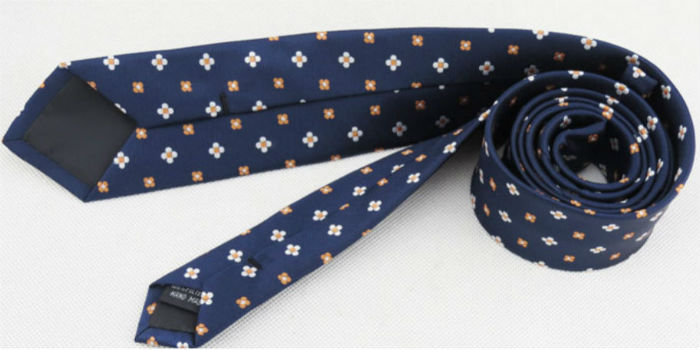 stropdas floral blauw kopen