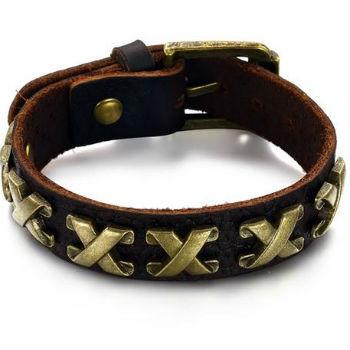 Lederen armbands man