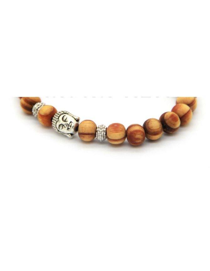 Boedha Bracelet with wooden beads kopen