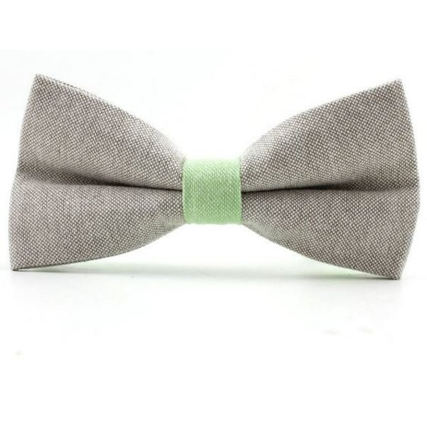 Bow Tie Pastel Green Grey