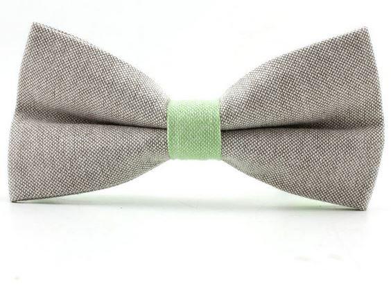 Bow Tie Pastel Green Grey