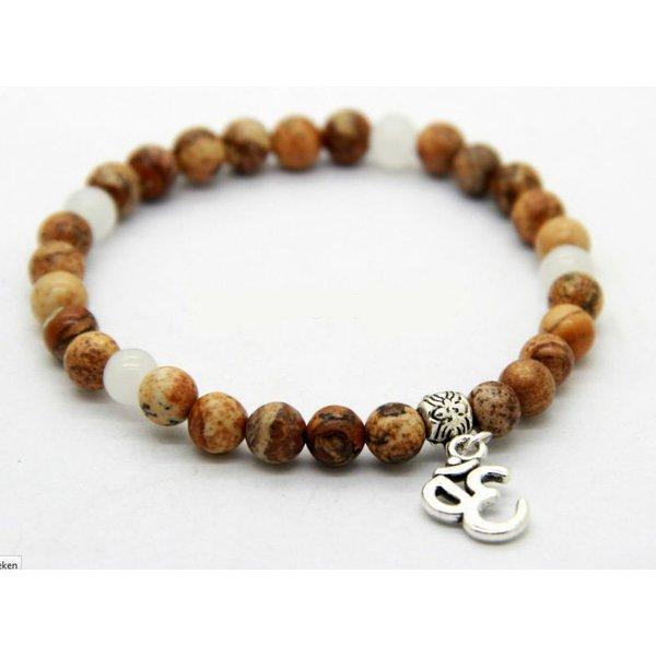 Yoga Bedel Armband - 6mm brede beads in het