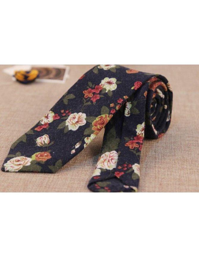 Floral Tie Navy Blue kopen