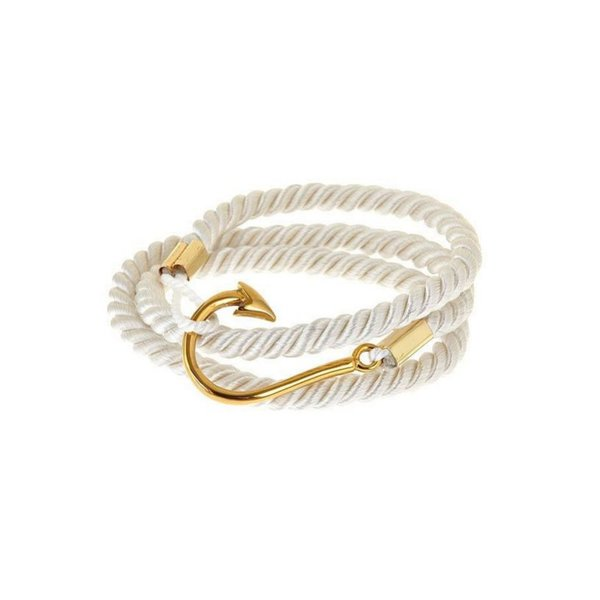 Luxe Wrap Armband Vishaak en Touw - Heren in het