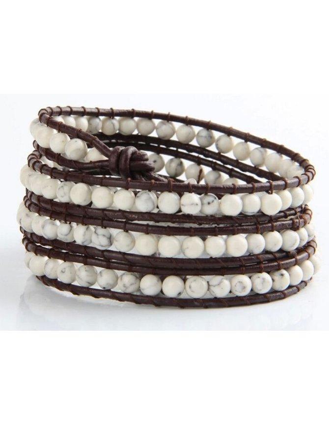 Wrap bracelet white Turquoise kopen