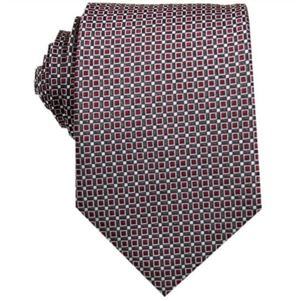 Silk Tie Dark red checkered