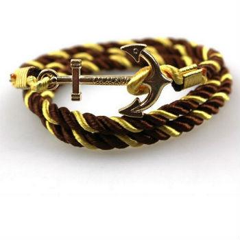 anker armband goud satijn