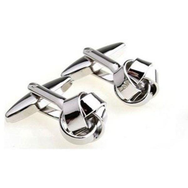 Stainless Steel Knot Cufflinks in het