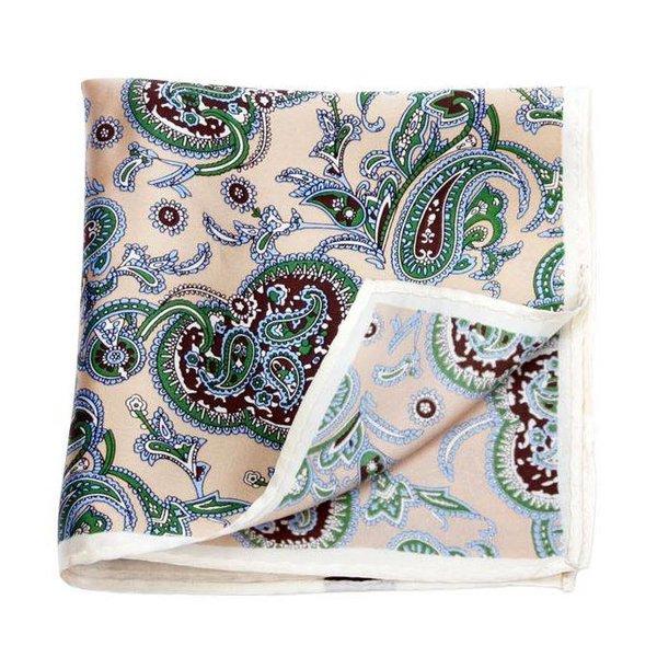Large Handkerchief Beige Paisley in het