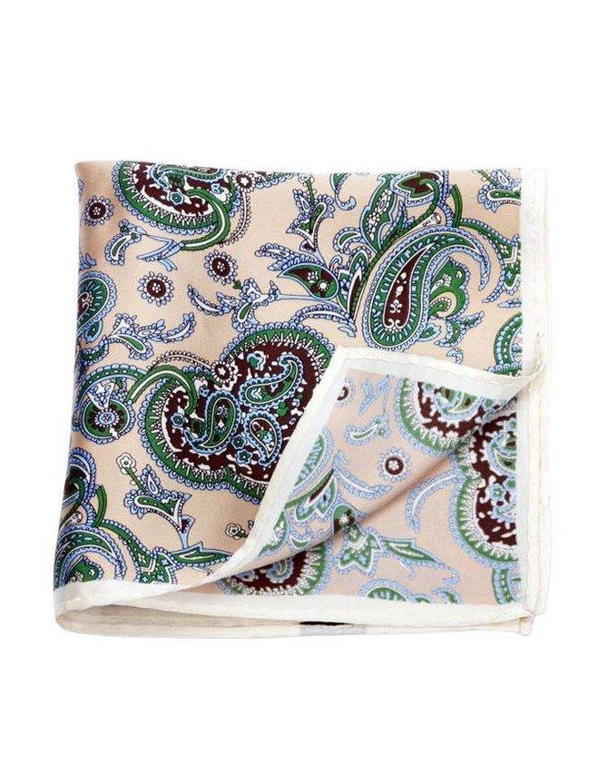 Large Handkerchief Beige Paisley kopen