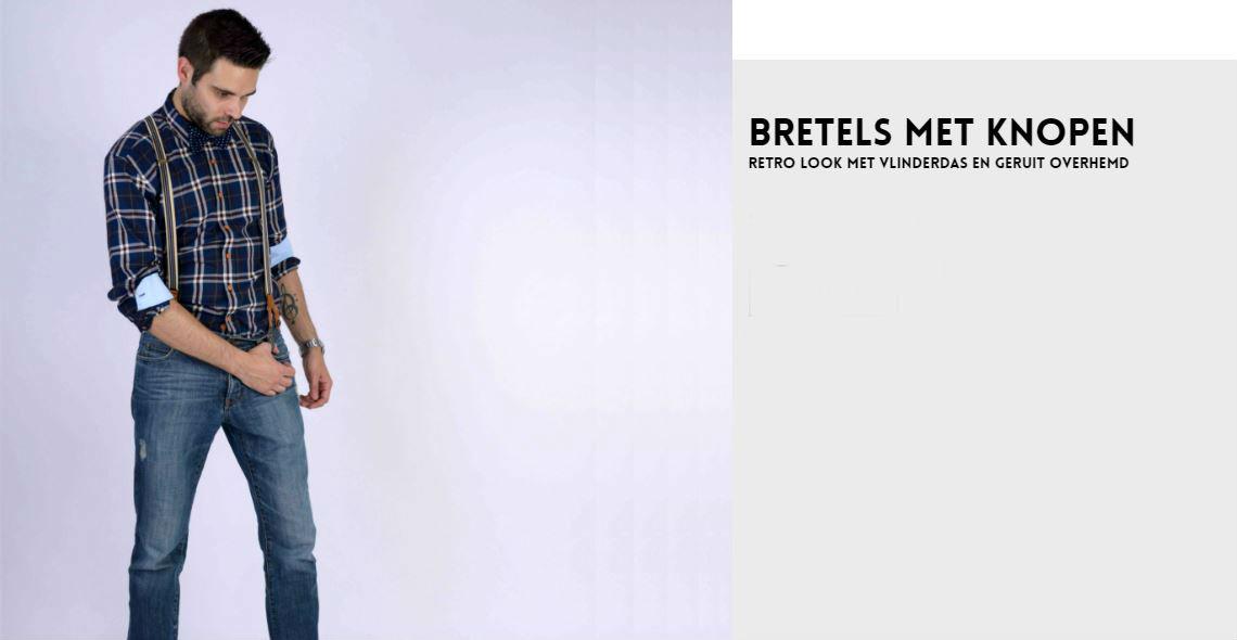Bretels dragen met knopen