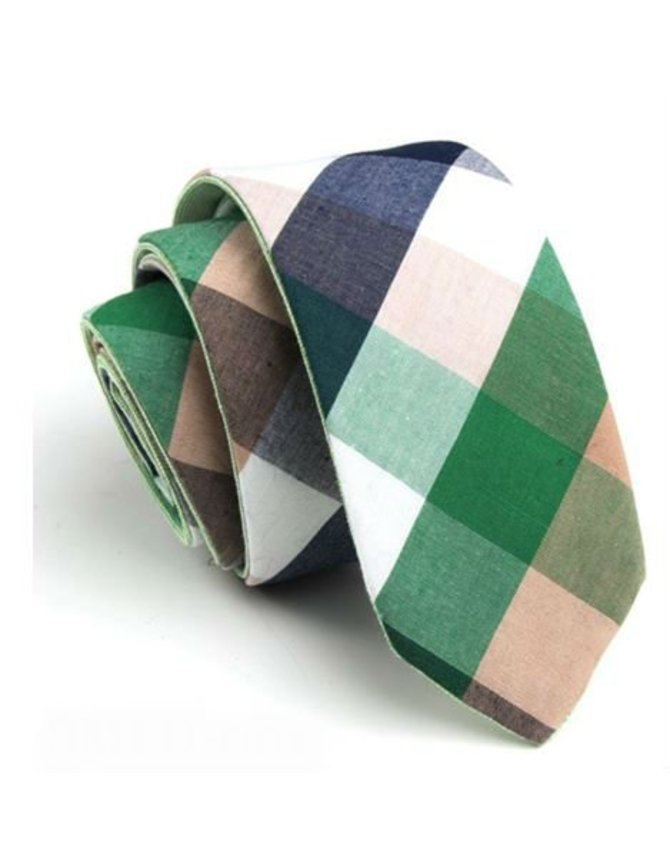 Fresh Green Tie Cotton kopen