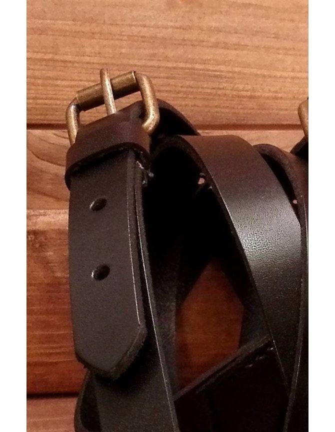 Real Leather Suspenders Black kopen