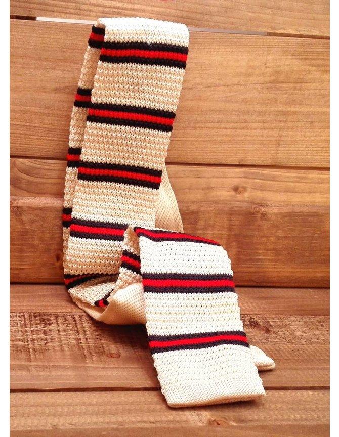 Necktie knitted cream kopen