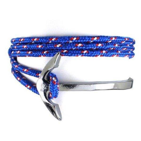 Wrap Armband Vishaak en Touw - Blauw in het
